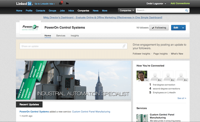 PowerOn LinkedIn page