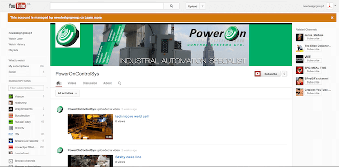 PowerOn Youtube Channel