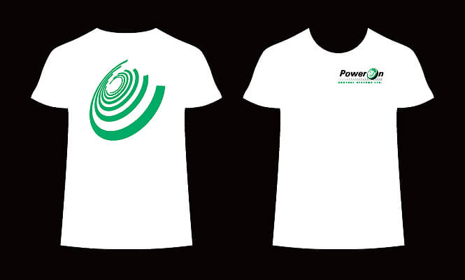 PowerOn t-shirt design for staff
