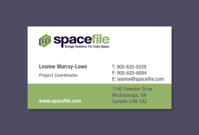 Spacefile buisness card design