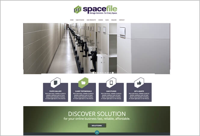 Spacefile new website screenshot