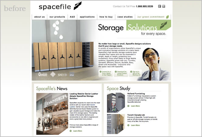 Spacefile Old website screenshot
