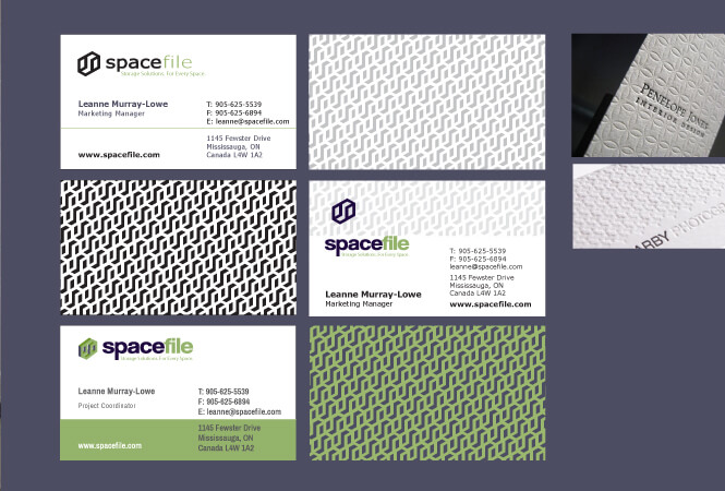 Spacefile buisness card design different samples