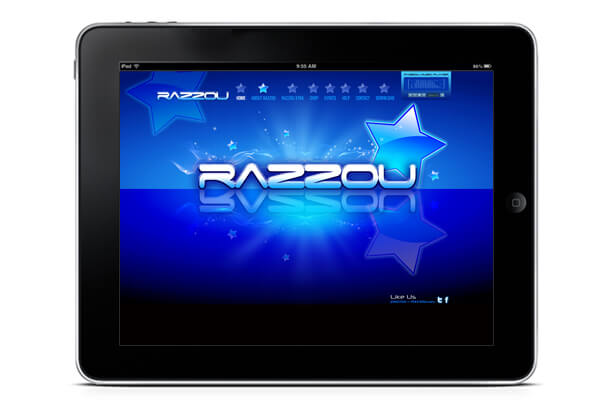 sample of IPad app for Razzou dating site