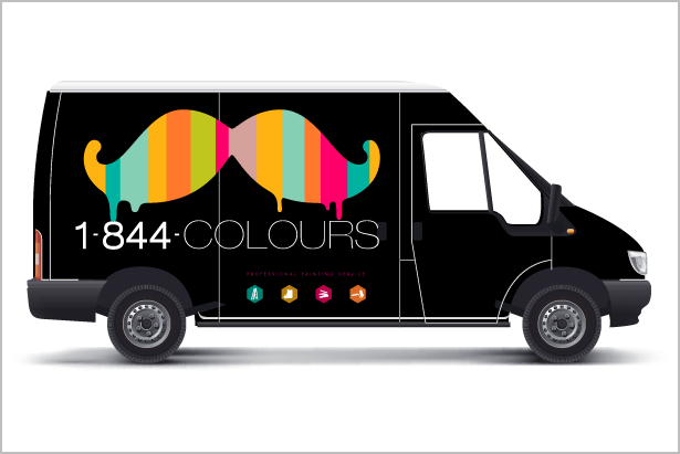 Vehicle Graphics for Painting Company by New Design Group