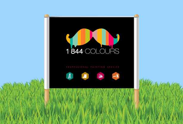 Lawn Signs for Painting Business by New Design Group