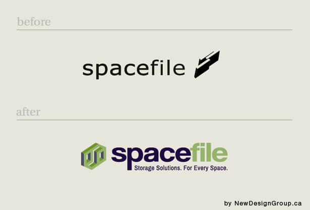 spacefile manufacturing company logo design