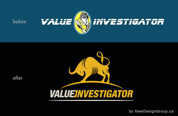 value investigator logo design sample