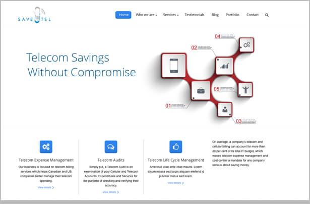 saveutel sample webpage design