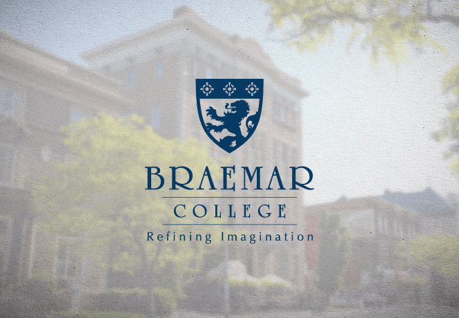 Logo Design for Braemar College by New Design Group