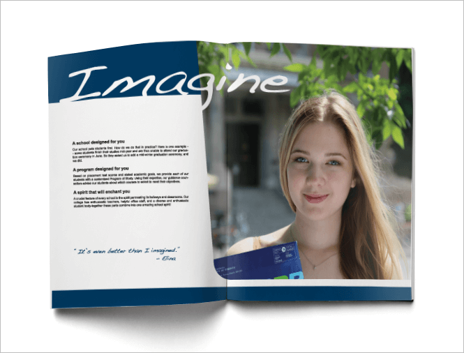 Brochure Design for College by New Design Group