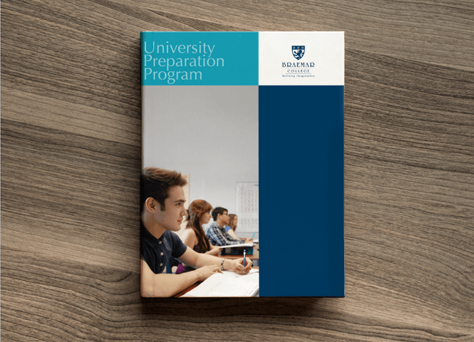 Braemar College Brochure Design by New Design Group