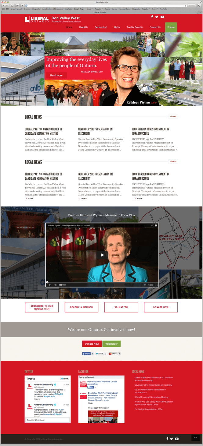 Web Design for Don Valley West by New Design Group