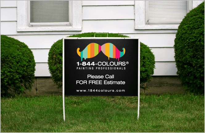 Lawn sign design by New Design Group