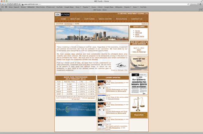 Financial Company Web Redesign - Before Redesign by New Design Group