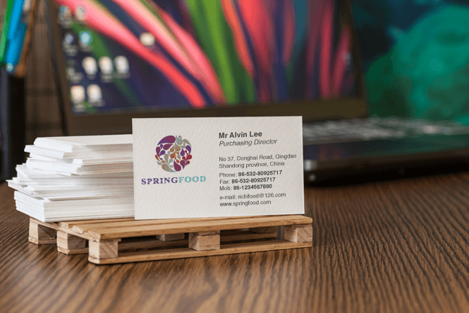 Spring food Business Card Design