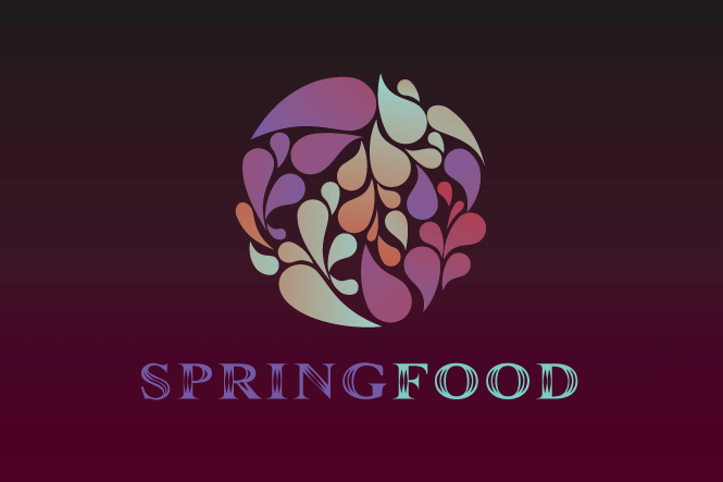 Spring food logo design