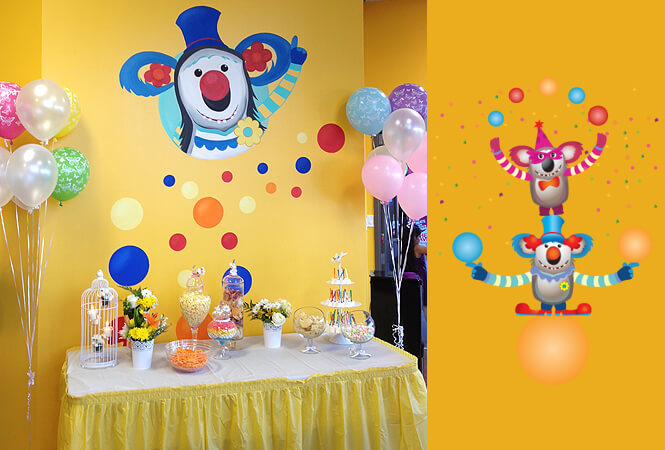 Birthday party room design Koala Kidz