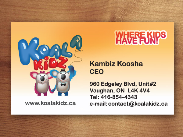 business cards Koala Kids