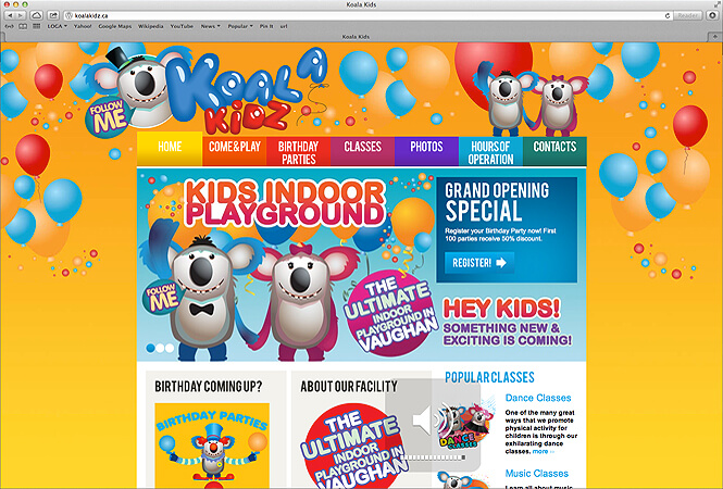 Koala Kids Website Screenshot