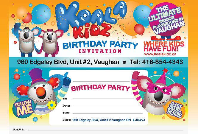 Koala Kidz invitation