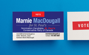 Business card design for politician by New Design Group