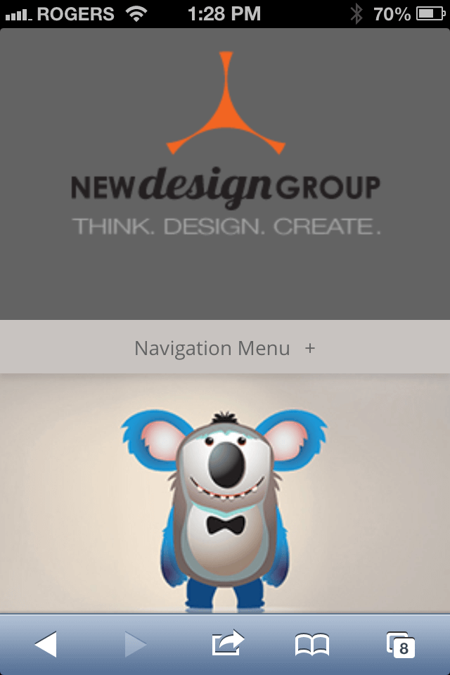 New Design Group responsive website  design