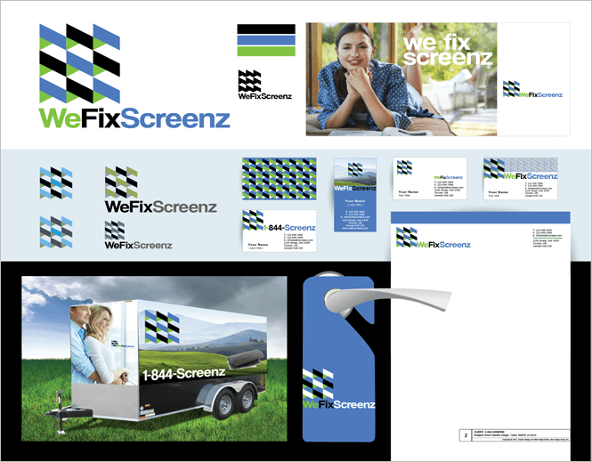 Branded Materials for WeFixScreenz by New Design Group