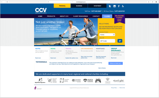 Top tips to create an insurance company web design that for Top photo selling websites