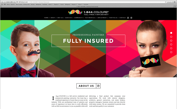 Web Design for Painting Company by Canadian Web Development Agency