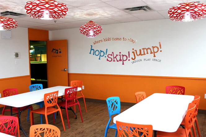 Hop! Skip! Jump! Party Room design