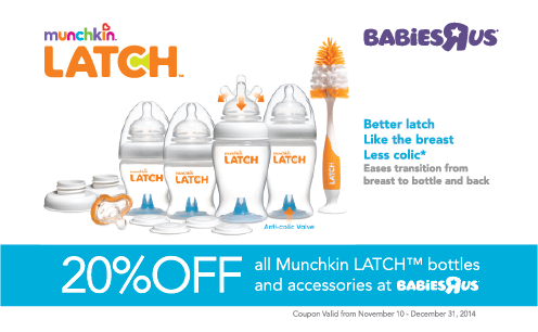 Advert Design for munchkin and Babies 'R' Us