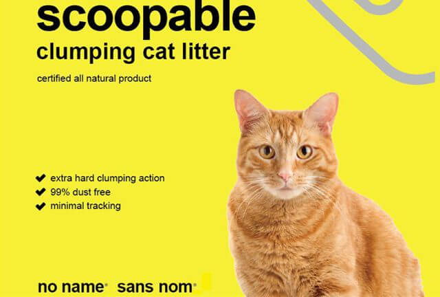 no name/ sans nome. New packaging design for their scoopable cat litter.