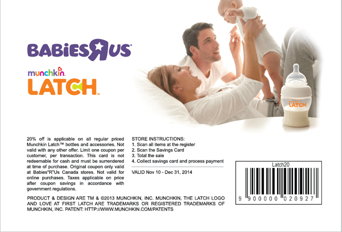 advert design for munchkin and babies R Us