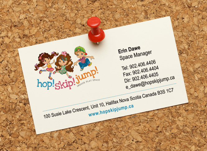 Hop! Skip! Jump! Business Card Design