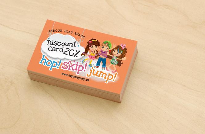 Promotional Discount Card Design for Hop! Skip! Jump!