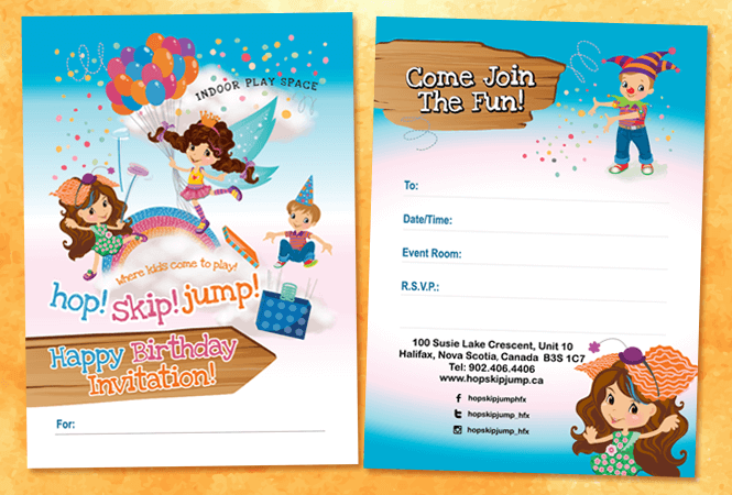 Children's Birthday Invitation Design