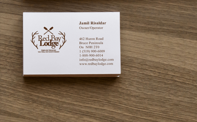 Resort business card design by New Design Group