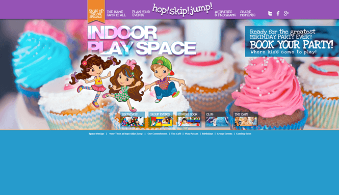 Kids Indoor Playground Website Page by New Design Group