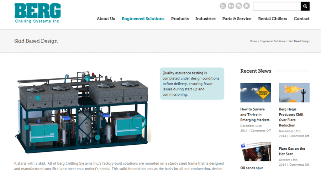 Manufacturing Company Website with Interactive Page by New Design Group