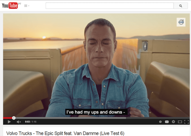 Claude Van Damme epic split on YouTube