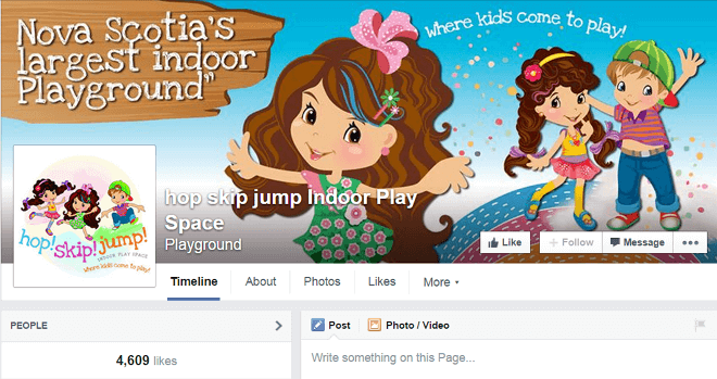 Facebook Page Branding for Hop! Skip! Jump!