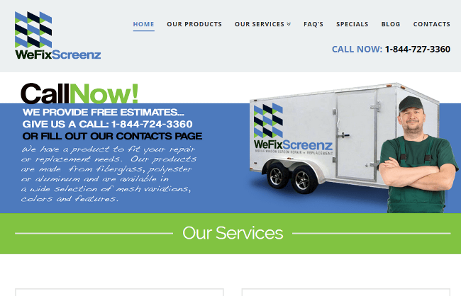 Manufacturing company website design by New Design Group