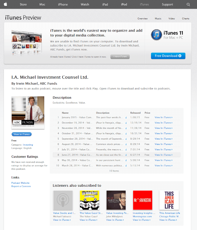 Web design with integral podcast function by New Design Group