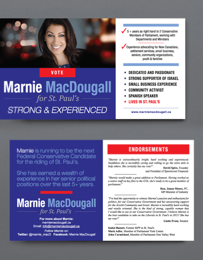 Business Card design for Conservative Party by New Design Group