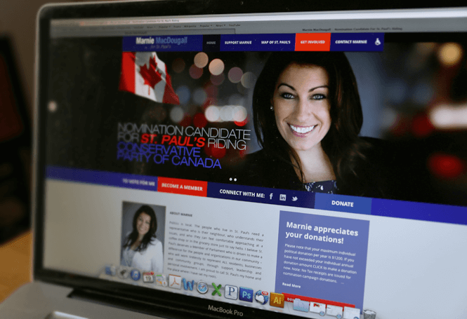 Political candidate web design