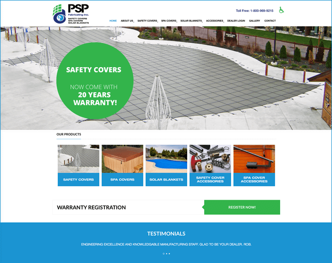 Manufacturing company web design by New Design Group