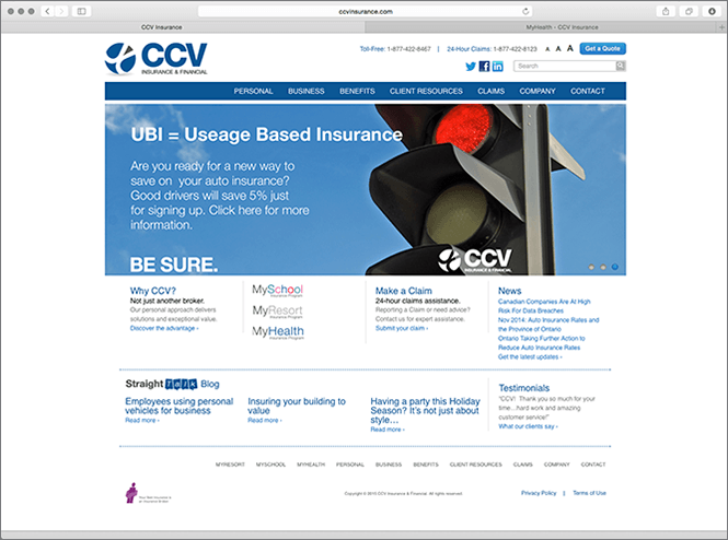 CCV old website screenshot