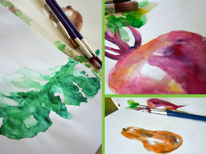 Evynn's watercolors for packaging design