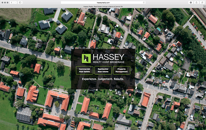 Hassey homepage design screenshot